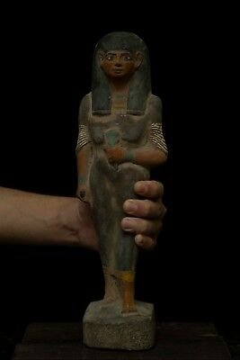 EGYPTIAN ANTIQUE Queen Nakhtmin ANCIENT EGYPT STATUE GODDESS Stone 1300 BC