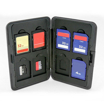 Hard 8 Micro SD SDHC Memory Card Storage Carrying Case Holder Protector