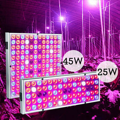 45W 25W LED Grow Light Full Spectrum Hydroponic Indoor Flower Plants Panel Lamp