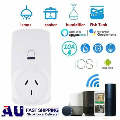 10A Wifi Smart Plug Power Socket Outlet Switch APP Remote Google Home Echo Alexa