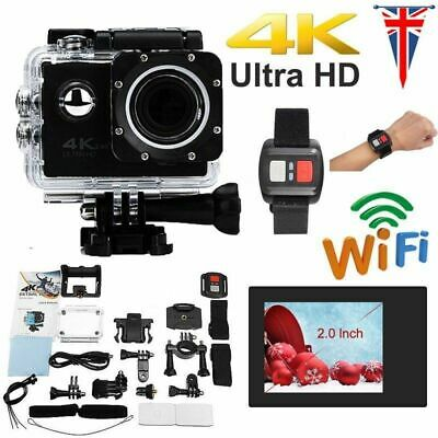 4K 2'' Ultra HD 1080P Sport WiFi Cam Action Camera DV Video Recorder 16MP Go Pro