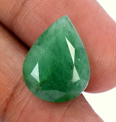 Natural Emerald Pear Cut 18x13.50 mm 11.23 Cts Certified Untreated Loose Gems
