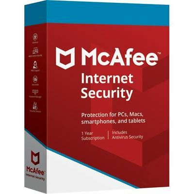 McAfee Internet Security 2019 Anti Virus Software 09 months 1 User