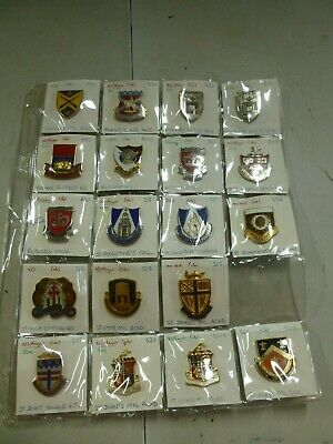 Assorted Lot of 20 College Military Pins w/ Rutgers Univ. and Roosevelt HS