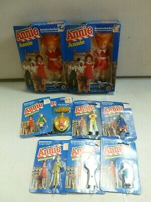 Lot of 9 1982 Knickerbacker The World of Annie Figures and Miniatures