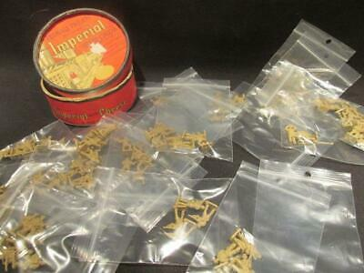 """Frontiersman Style 100+ Tan Plastic 1"""" Soldiers & Imperial Cheese Container"""