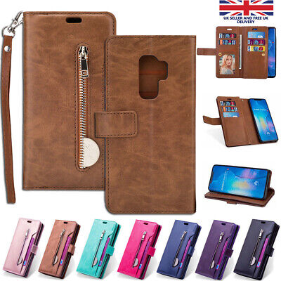 For Samsung Galaxy S10 Plus S10e Case Leather Flip Wallet Card Stand Cover
