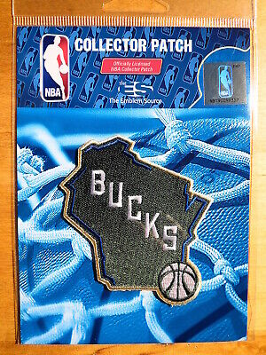 """Official NBA Milwaukee Bucks Alternate Logo Iron or Sew On Patch Sm 2 3/4"""" by 3"""""""