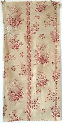 Lovely 19th C. French Floral Toile Cotton Printed Fabric (2485)