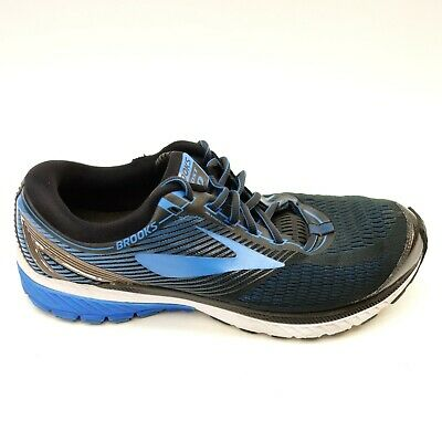 5e0025d1c421f Brooks Mens Size 12 Wide Ghost 10 Blue Black Road Running Trail Athletic  Shoes