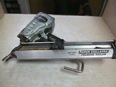 """Hitachi NR90AD 3-1/2"""" Paper Collated Framing Nailer, For Parts"""