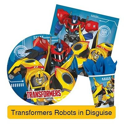 TRANSFORMER Birthday Party Ranges - Robots in Disguise Tableware & Decorations