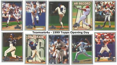 1999 Topps Opening Day Baseball Set ** Pick Your Team * Checklist in Description