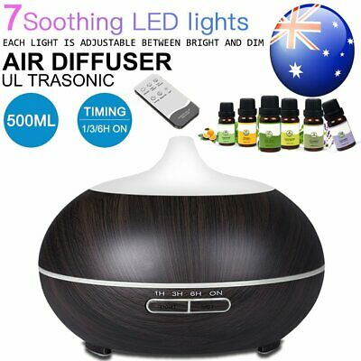 LED Aromatherapy Aroma Diffuser Essential Oil Ultrasonic Air Humidifier Purifier