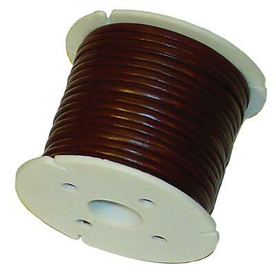 """Calf Leather Lace Cord Spool - Black - Brown - 50 Yards x 1/8"""" - 50 Yards x 3/32"""