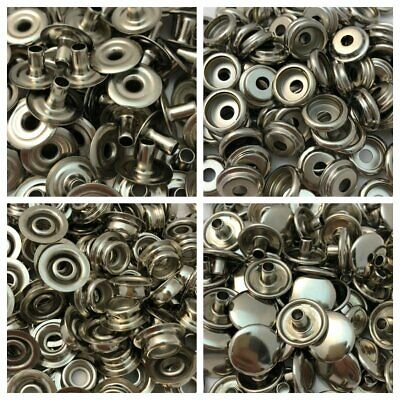 100 Heavy Duty Nickel Snaps for Leather Crafts