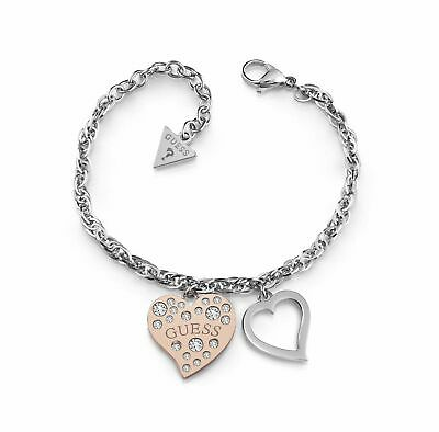 GUESS Bracelet Heart Warming S Rosegold / Silver