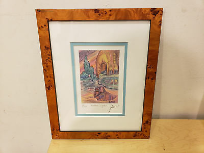 """JERRY GARCIA signed autograph original #3 of 500 """"Northern Lights"""" lithograph"""