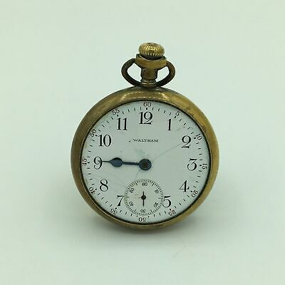 1913 Waltham 15 Jewel Gold Filled Open Face Pocket Watch Size 16s No. 19468855