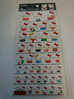 Sanrio Hello Kitty Stickers Seals From Japan Rare 4 Sizes
