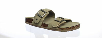 f982f0f3f MADDEN GIRL WOMENS Brando Taupe Fabric Slides Size 9 (192892 ...