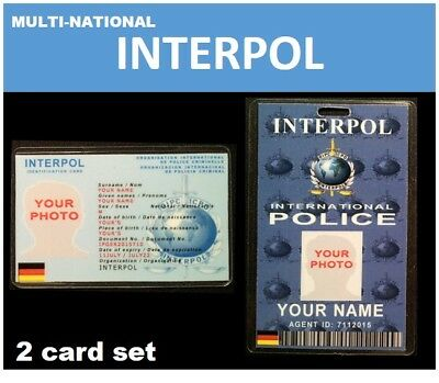 international ID collection... Multi-National... 2 card set...<<INTERPOL>>