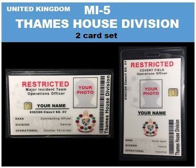 international ID collection..UNITED KINGDOM 2 card set...<<MI-5 Thames House>>