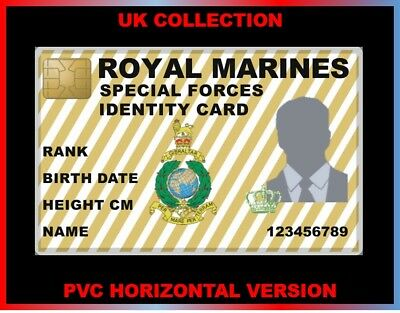 royal military MARINES...  UK ID COLLECTOR CARD