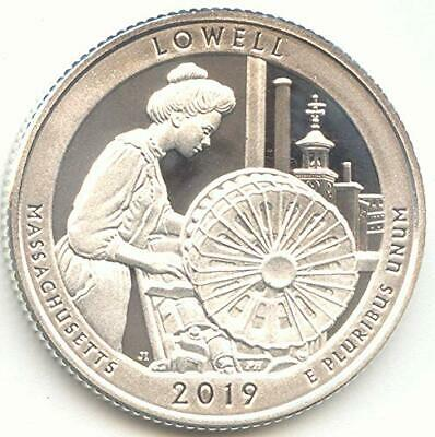 2019-S Silver Proof Quarter ATB Lowell National Historical Park Massachusetts