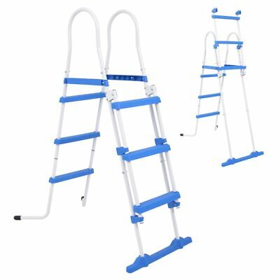 vidaXL Above-Ground Pool Safety Ladder 107 cm with 3 Non Slip Durable Steps
