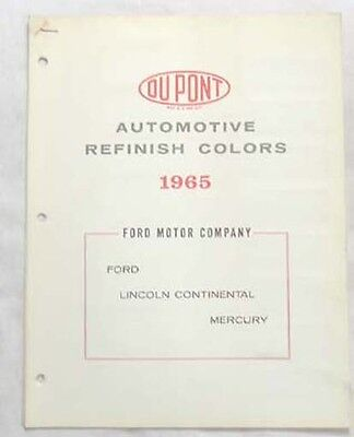 1964 Ford Lincoln Mercury Dupont Color Paint Chip Chart All Models Original