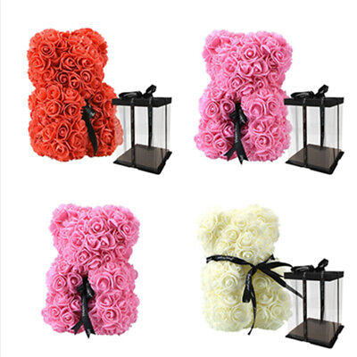Teddy Bear Lovely Big Red Rose Flower Bear Toys Creative Valentine'S Gifts