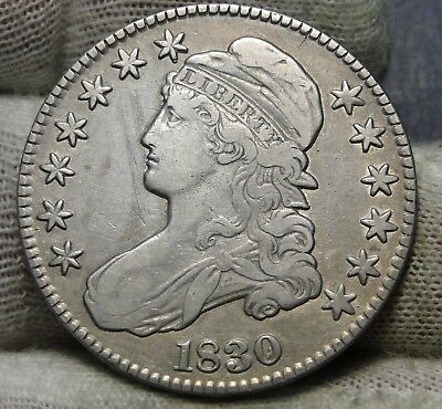 1830 Capped Bust Half Dollar - 50 Cents .Nice Coin .. Free Shipping  (7348)