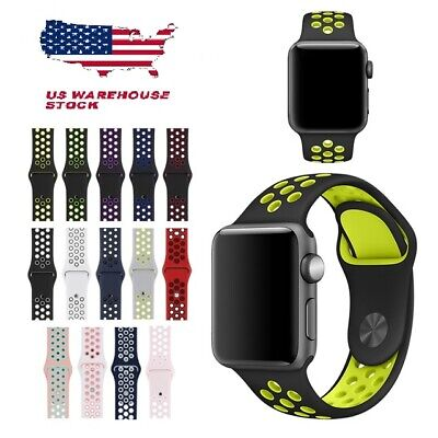 Replacement Silicone Rubber NK Sports Strap For Apple Watch 1/2/3/4 series