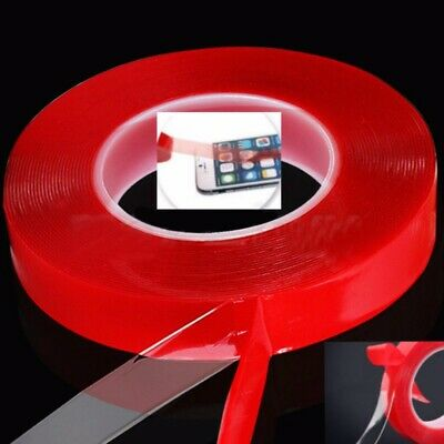 25M 2-10mm Red Adhesive Double Side Acrylic Tape Car Sticker Sticky Phone Repair