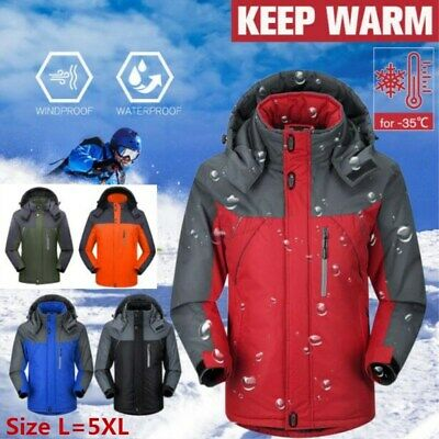 Men Women Winter Outdoor Waterproof  Warm Jacket Fleece Lined Ski Snowboard Coat