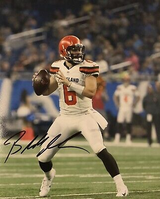 0785bbd9a2f Baker Mayfield Hand Signed Autograph 8x10 Photo & Coa Cleveland Browns  Football