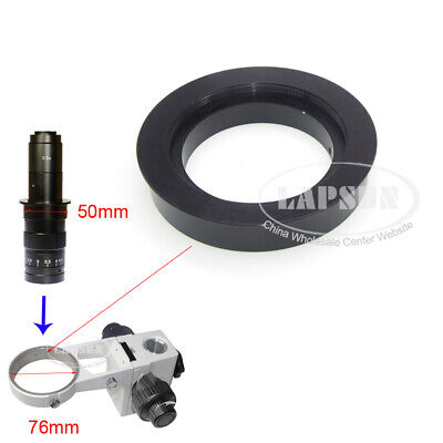 Stereo Microscope Ring Adapter F/ 50mm C-mount Lens to 76mm Adjustment Bracket S