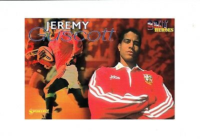 Rugby Union : Jeremy Guscott : large UK Sported sports card