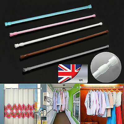 Extendable Spring Loaded Telescopic Voile Net Pole Rail Rod Curtain Tension WANG