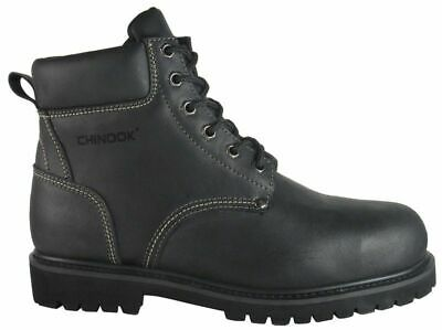 8df59c5c5c7 USED MENS CHINOOK OIL RIGGER Black Leather STEEL TOE Work Safety ...