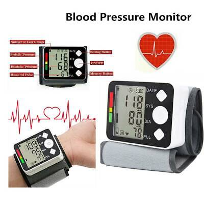 Digital Automatic Wrist Blood Pressure Monitor Heart Beat Rate Pulse Measure UK