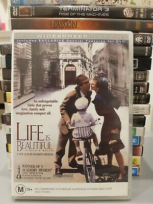 Life Is Beautiful (La Vita E Bella) Dvd Movie Italian Roberto Benigni Oscars