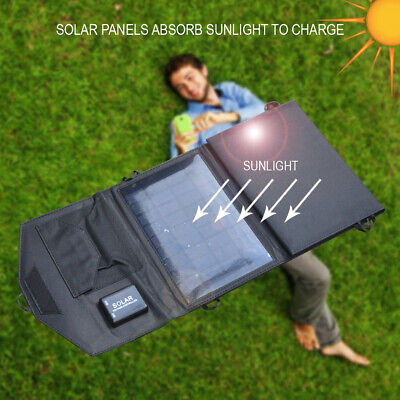 5W/7W/10.5W/14W Foldable Solar Panel Charging Bag Portable Charger Pack Kits