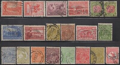 1914-38 Twenty Commemoratives, roos, KGV heads and Postage Dues, used -2-
