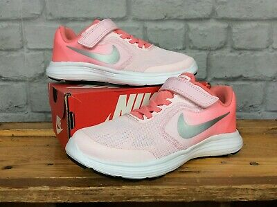 99c662af0d86 Nike Uk 13 Eu 31.5 Revolution 3 Pink Ombre Running Trainers Girls Childrens