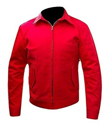 Men's Rebel Without a Cause James Dean Red Cotton Jacket | All Sizes