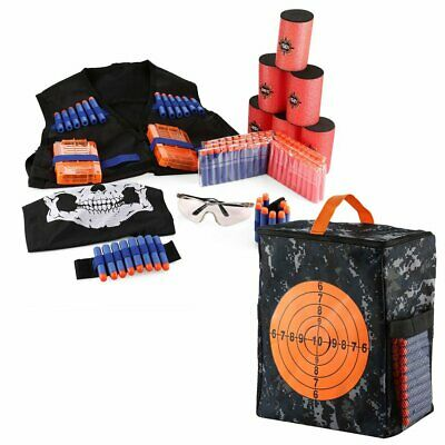 Target Shooting Pouch Storage Bag W/200 Bullet Dart For Nerf Elite Accessary Toy