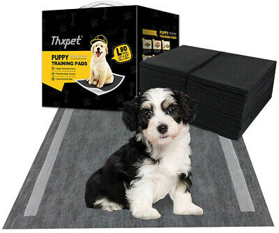 Pet Puppy Pads Black Activated Carbon Dog Pee Potty Training Pad 80 Count