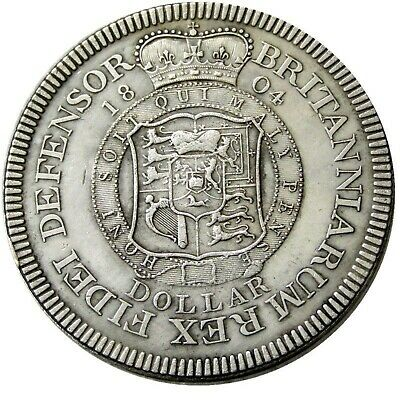 HONI SOIT QUI MAL Y PENSE 1804 Laureate and Draped Bust GEORGE III  Dollar